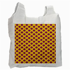 Polka Dot Purple Yellow Orange Recycle Bag (one Side) by Mariart