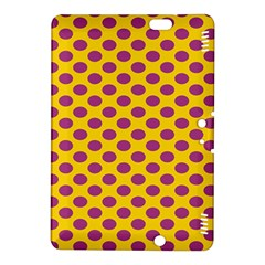 Polka Dot Purple Yellow Orange Kindle Fire Hdx 8 9  Hardshell Case by Mariart