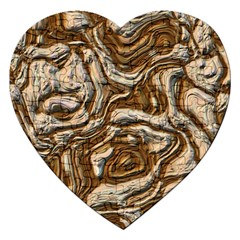 Fractal Background Mud Flow Jigsaw Puzzle (heart) by Simbadda
