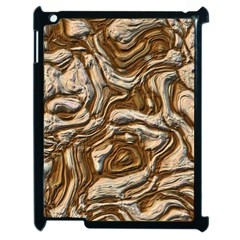 Fractal Background Mud Flow Apple Ipad 2 Case (black) by Simbadda