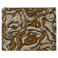 Fractal Background Mud Flow Cosmetic Bag (xxxl)  by Simbadda