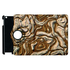 Fractal Background Mud Flow Apple Ipad 2 Flip 360 Case by Simbadda