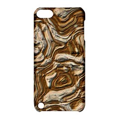 Fractal Background Mud Flow Apple Ipod Touch 5 Hardshell Case With Stand by Simbadda
