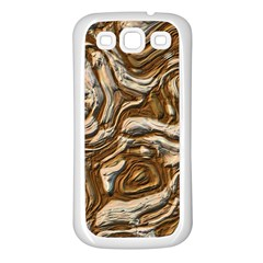 Fractal Background Mud Flow Samsung Galaxy S3 Back Case (white) by Simbadda