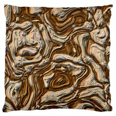 Fractal Background Mud Flow Large Flano Cushion Case (one Side) by Simbadda