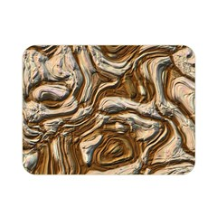 Fractal Background Mud Flow Double Sided Flano Blanket (mini)  by Simbadda