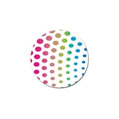 Polka Dot Pink Green Blue Golf Ball Marker (10 Pack) by Mariart