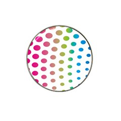 Polka Dot Pink Green Blue Hat Clip Ball Marker (4 Pack) by Mariart