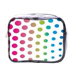 Polka Dot Pink Green Blue Mini Toiletries Bags by Mariart