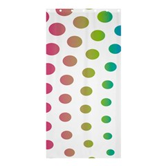 Polka Dot Pink Green Blue Shower Curtain 36  X 72  (stall)  by Mariart