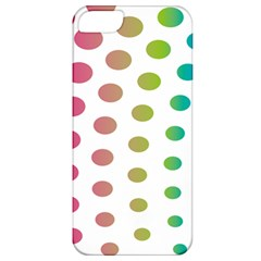 Polka Dot Pink Green Blue Apple Iphone 5 Classic Hardshell Case by Mariart