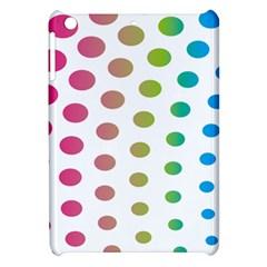 Polka Dot Pink Green Blue Apple Ipad Mini Hardshell Case by Mariart