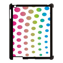 Polka Dot Pink Green Blue Apple Ipad 3/4 Case (black) by Mariart