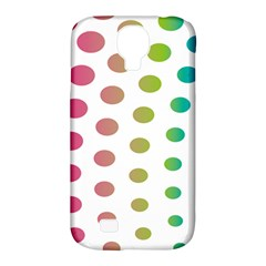 Polka Dot Pink Green Blue Samsung Galaxy S4 Classic Hardshell Case (pc+silicone) by Mariart