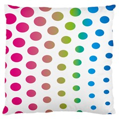Polka Dot Pink Green Blue Standard Flano Cushion Case (two Sides) by Mariart