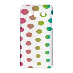 Polka Dot Pink Green Blue Samsung Galaxy A5 Hardshell Case  by Mariart