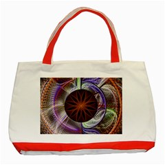 Background Image With Hidden Fractal Flower Classic Tote Bag (Red) by Simbadda