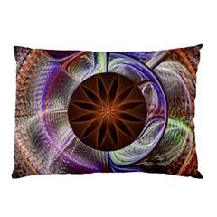 Background Image With Hidden Fractal Flower Pillow Case by Simbadda