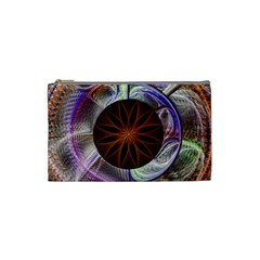 Background Image With Hidden Fractal Flower Cosmetic Bag (small)  by Simbadda