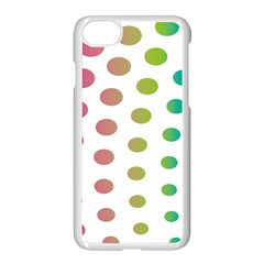 Polka Dot Pink Green Blue Apple Iphone 7 Seamless Case (white)