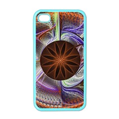 Background Image With Hidden Fractal Flower Apple Iphone 4 Case (color) by Simbadda