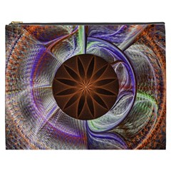 Background Image With Hidden Fractal Flower Cosmetic Bag (xxxl)  by Simbadda