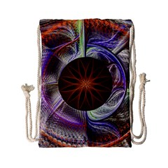 Background Image With Hidden Fractal Flower Drawstring Bag (small) by Simbadda