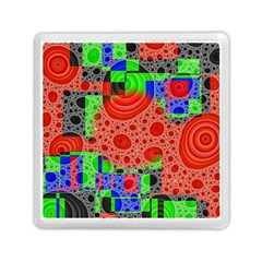 Background With Fractal Digital Cubist Drawing Memory Card Reader (square)  by Simbadda