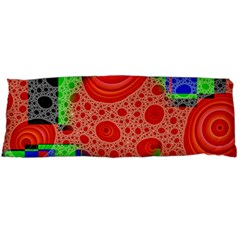 Background With Fractal Digital Cubist Drawing Body Pillow Case Dakimakura (two Sides) by Simbadda