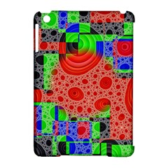 Background With Fractal Digital Cubist Drawing Apple Ipad Mini Hardshell Case (compatible With Smart Cover) by Simbadda
