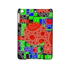 Background With Fractal Digital Cubist Drawing Ipad Mini 2 Hardshell Cases by Simbadda