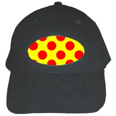 Polka Dot Red Yellow Black Cap by Mariart