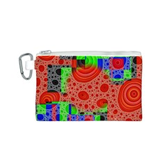 Background With Fractal Digital Cubist Drawing Canvas Cosmetic Bag (s) by Simbadda