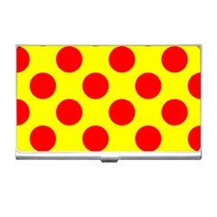 Polka Dot Red Yellow Business Card Holders by Mariart