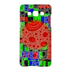 Background With Fractal Digital Cubist Drawing Samsung Galaxy A5 Hardshell Case  by Simbadda