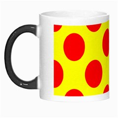 Polka Dot Red Yellow Morph Mugs by Mariart