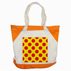 Polka Dot Red Yellow Accent Tote Bag by Mariart