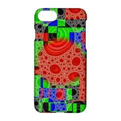 Background With Fractal Digital Cubist Drawing Apple Iphone 7 Hardshell Case by Simbadda
