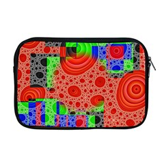 Background With Fractal Digital Cubist Drawing Apple Macbook Pro 17  Zipper Case by Simbadda