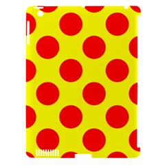 Polka Dot Red Yellow Apple Ipad 3/4 Hardshell Case (compatible With Smart Cover) by Mariart