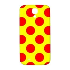 Polka Dot Red Yellow Samsung Galaxy S4 I9500/i9505  Hardshell Back Case by Mariart