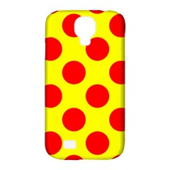 Polka Dot Red Yellow Samsung Galaxy S4 Classic Hardshell Case (pc+silicone) by Mariart