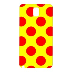 Polka Dot Red Yellow Samsung Galaxy Note 3 N9005 Hardshell Back Case by Mariart