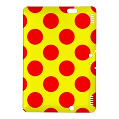 Polka Dot Red Yellow Kindle Fire Hdx 8 9  Hardshell Case by Mariart