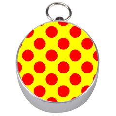 Polka Dot Red Yellow Silver Compasses by Mariart
