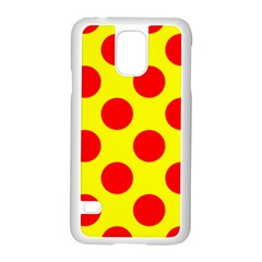 Polka Dot Red Yellow Samsung Galaxy S5 Case (white) by Mariart