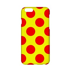 Polka Dot Red Yellow Apple Iphone 6/6s Hardshell Case by Mariart