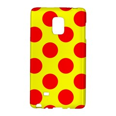 Polka Dot Red Yellow Galaxy Note Edge by Mariart