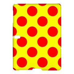 Polka Dot Red Yellow Samsung Galaxy Tab S (10 5 ) Hardshell Case  by Mariart
