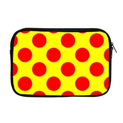 Polka Dot Red Yellow Apple Macbook Pro 17  Zipper Case by Mariart